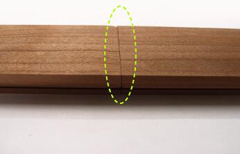 一般的なフローリングの突きつけ面の形状。