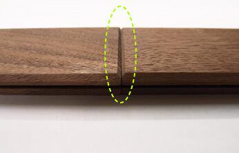 『ここち床』の突きつけ面の形状。